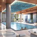 Rain Condos Oakville - condo interior amenity Indoor pool rendering