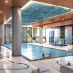 Rain Condos Oakville - condo interior amenity Indoor pool rendering