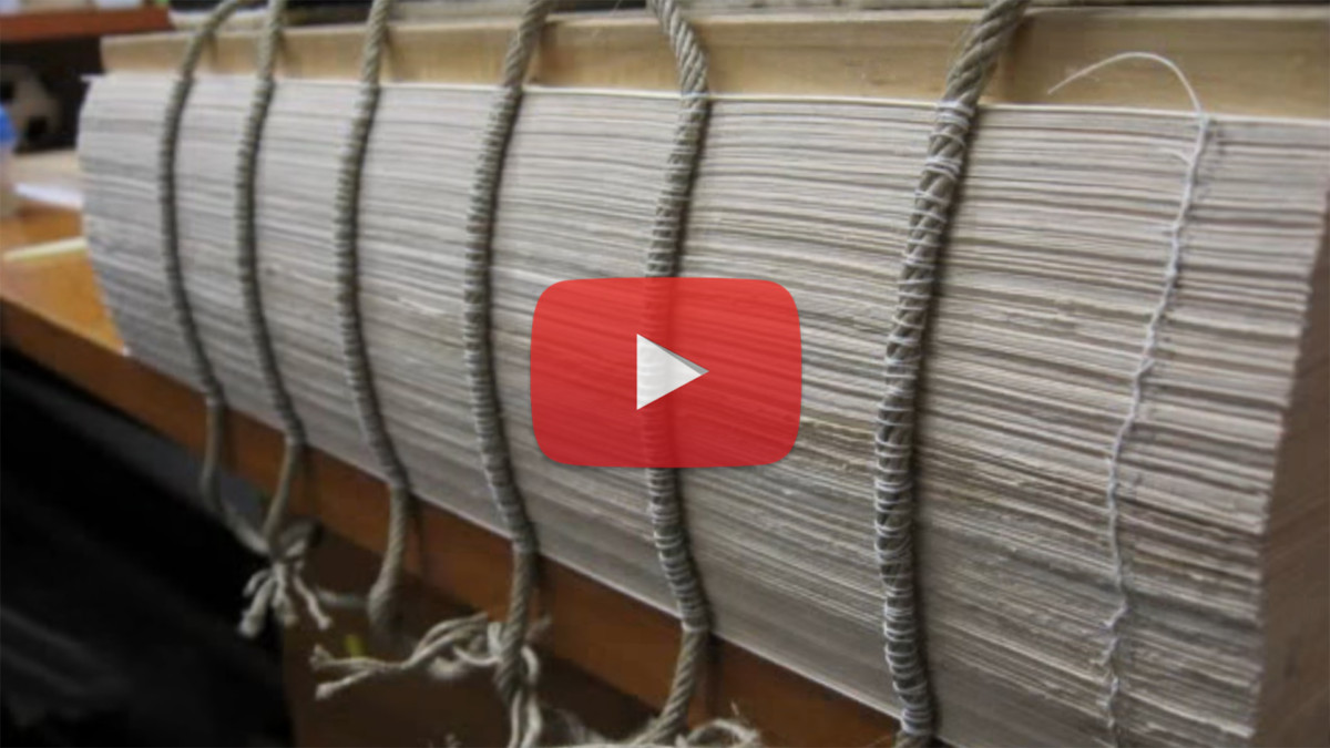 Video: Rare 18th Century Book Restoration