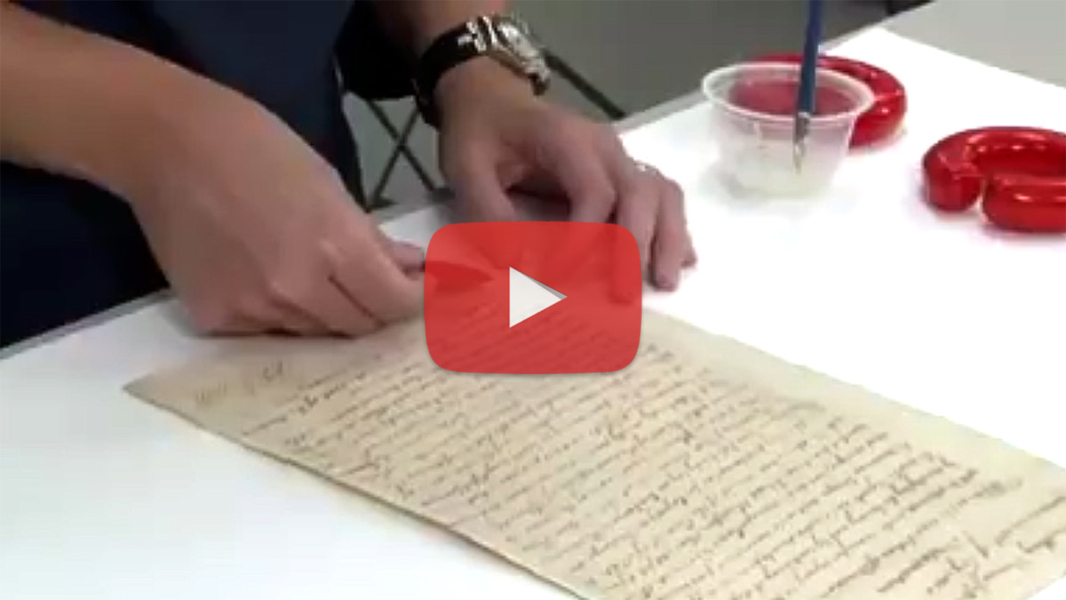 Video: Repairing a Historical Thomas Jefferson Document with Washi Paper