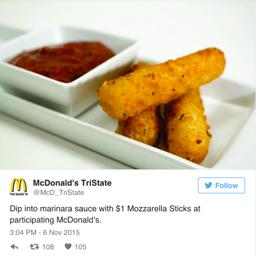Medium Of Mcdonalds Mozzarella Sticks