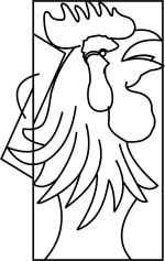 Rooster Head Template