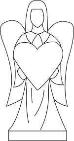 Angel with Heart Template