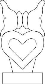 butterflys on heart Template