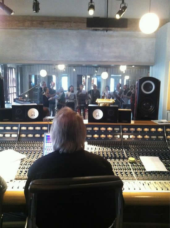 A view from the mixing desk courtesy of @rmvstudio as 'We Write the Story' comes to life at Benny's Riksmixningsverket studio