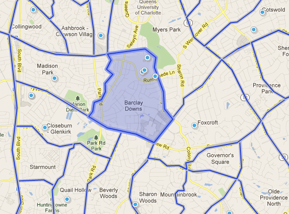 Charlotte NC SouthPark Neighborhoods - Barclay Downs