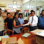 Donating medicine for Cancer Hospital, Maharagama