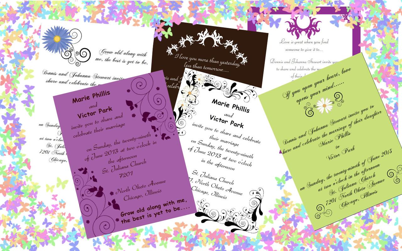 design print custom wedding invitations with iclicknprint custom wedding invitation printing Create wedding invitations with iClicknPrint