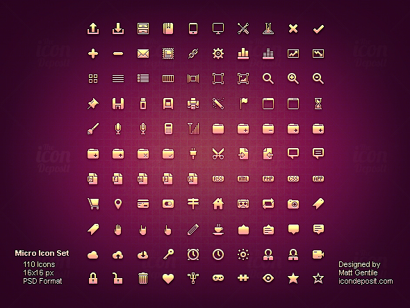 Micro Icon Set ID 10 Free Icon Packs for UI & Design Usage
