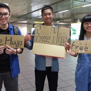 Free Hugs Going Around Taipei