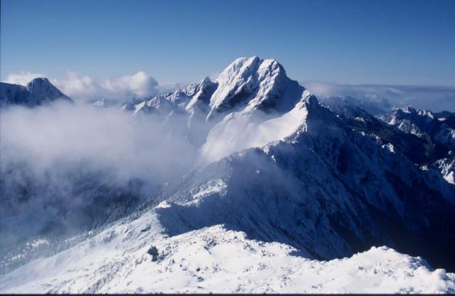 Yushan National Park snow Jade Mountain