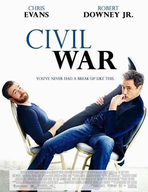 Captain America Civil War Iron Man Robert Downey Jr Chris Evans