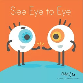 English in the News--    See Eye to Eye 看法一致; One on One 一對一