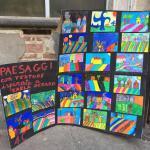 Classe 4 C paesaggi con texture ispirata a Karla Gerard