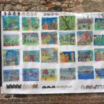 Classe 5 B paesaggi su carta di giornale