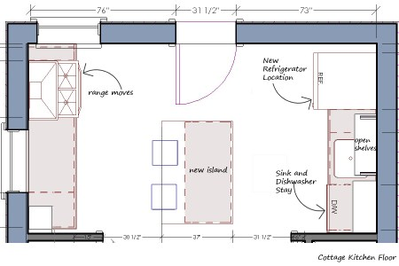 brilliant kitchen layouts plans including cottage and kitchen floor plan with precise merements and detail furniture arrangement