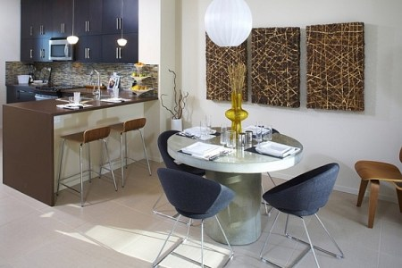 admirable design of small kitchen table ideas with cozy grey chairs also alluring chandelier