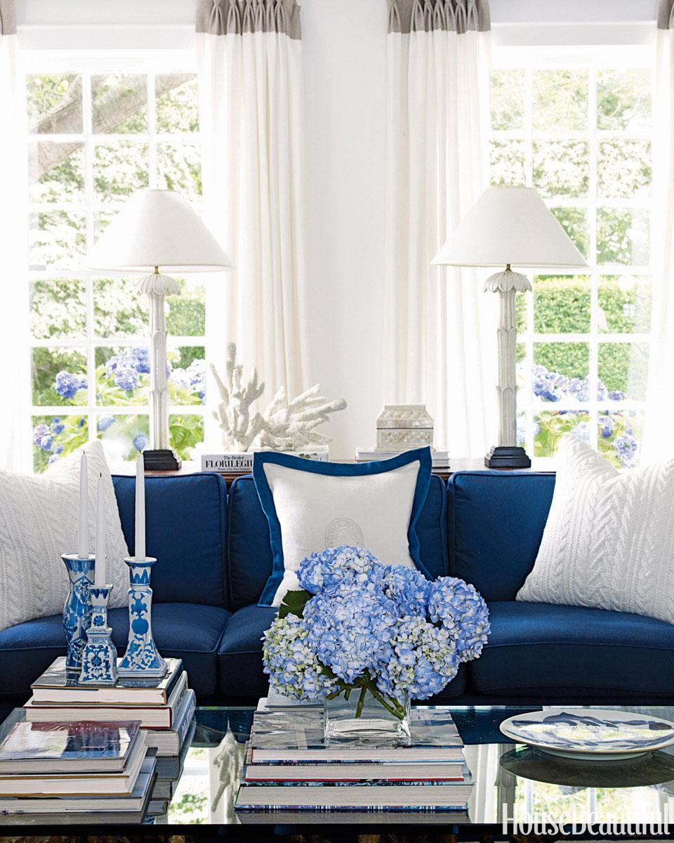 Soothing Costal Decor Idesignarch Interior Design House Decorating Blue Fabric House Decor Costal Decor Blue home decor House Beautiful Decor