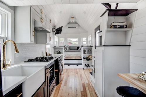 Charm An Error Ly Designed Tiny House Spacious Tiny House Kitchen Units Tiny House Kitchen Design Luxury Kitchen