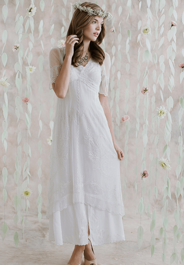 I do take two ruche vintage inspired wedding dresses for for Appropriate wedding dresses for second marriage