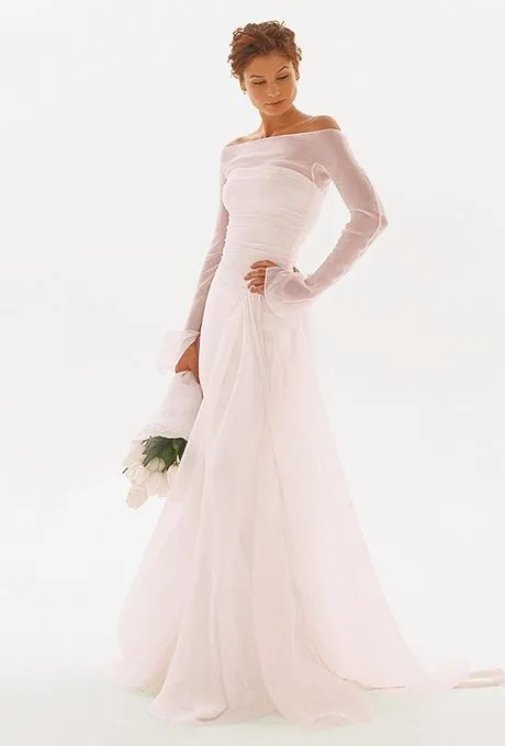 colorful wedding gowns for older brides
