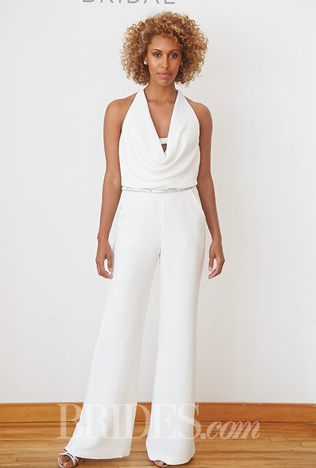 Wedding Suits For Brides : Do take two feminine bridal pant suits for your wedding day