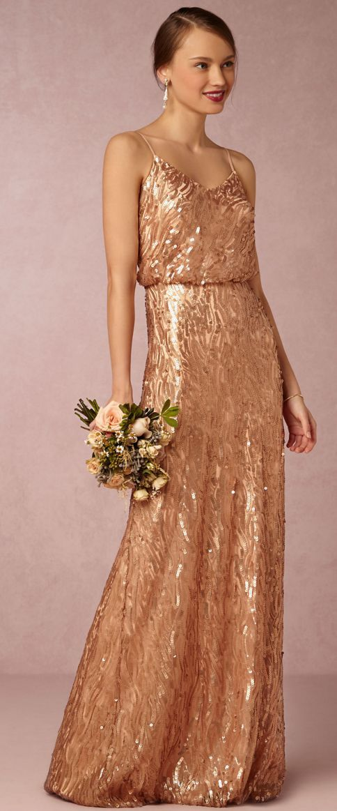 Turn up the heat in this gorgeous, metallic rose gold design that feels like a celebration all on its own.