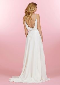 This chiffon design has a bit of glitter sewn right into it's modern back details.