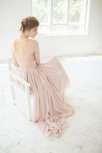 If you're inspired by color, you'll want to take a second look at this romantic, blush piece.