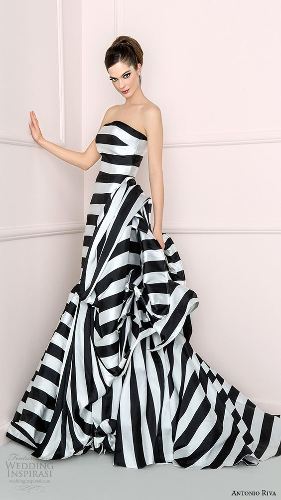 You could always go super nontraditional and dip yourself in some stripes, it's modern and quite youthful too!