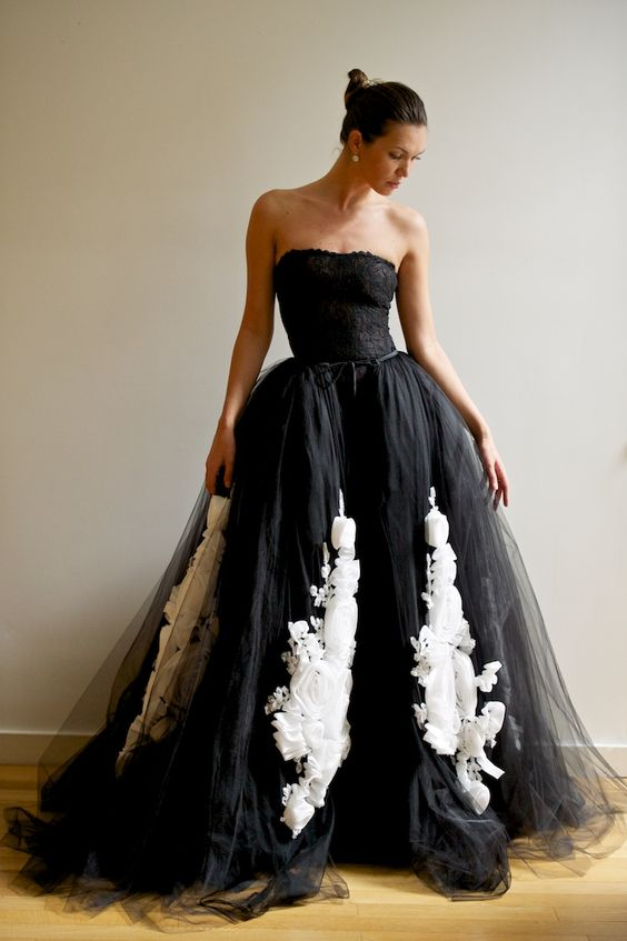 Here's another ball gown that's full of life and unique detailing.