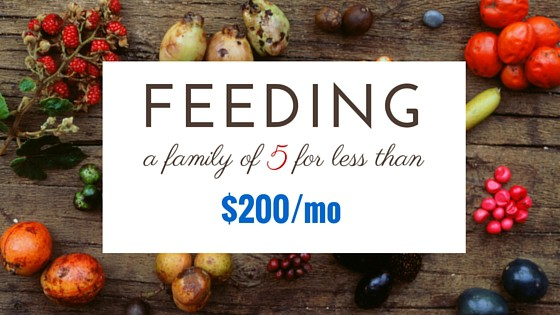 How I Feed a Family of Five for $200 Per Month