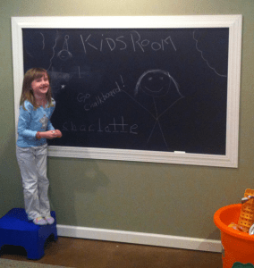 basement ideas chalkboard paint