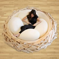 The Giant Birdsnest Bed Evolves Into A Formidable Piece of Furniture.