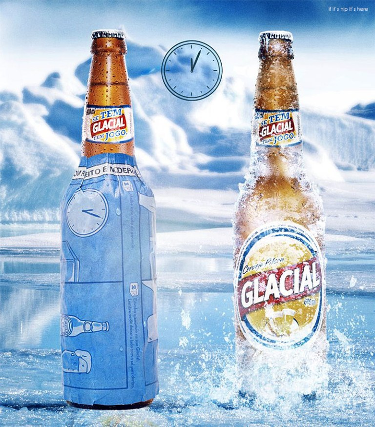 Innovative Print Ad for Glacial Beer