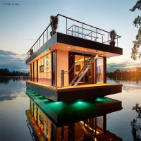 Eco-Friendly High-End Living That Floats: Rev House Houseboats.