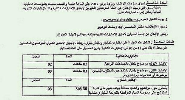 97 منصباً للشغل بكل من المجلس الإقليمي والجماعات الترابية التابعة لإقليم سيدي إفني و 16 يونيو آخر أجل لإيداع الترشيحات