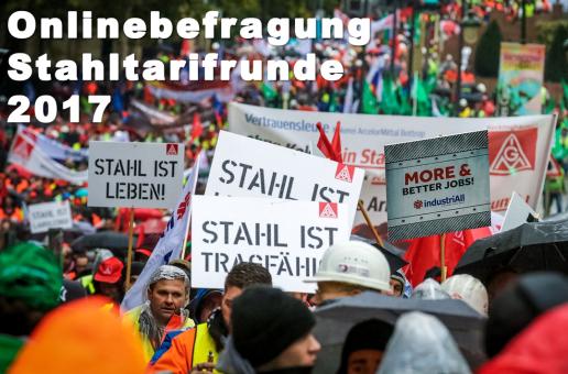 Onlineumfrage: Tarifrunde Stahl 2017 – Deine Meinung zählt!