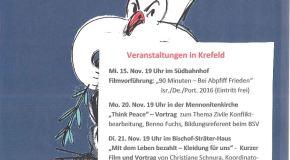 Veranstaltungen in Krefeld: Ökumenische Friedensdekade 2017 vom 12.-22. November 2017