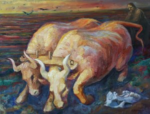 bulls_plow_oil_canvas