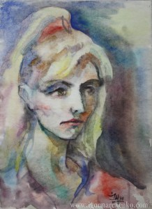 portrait_Alyona_circus_paper_watercolor