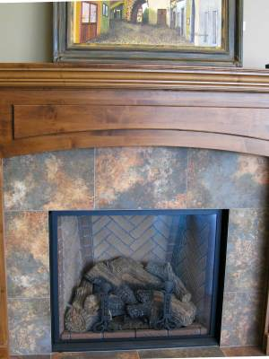 Custom made Fireplace Mantel Iguana Art & Design