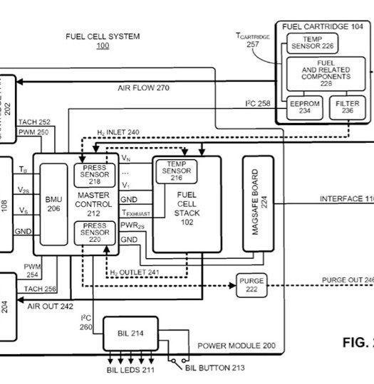 macbook fuel cell patent