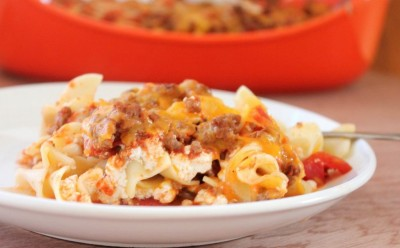 lighter sour cream noodle bake