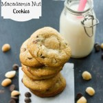 {Dark or White} Chocolate Macadamia Nut Cookies