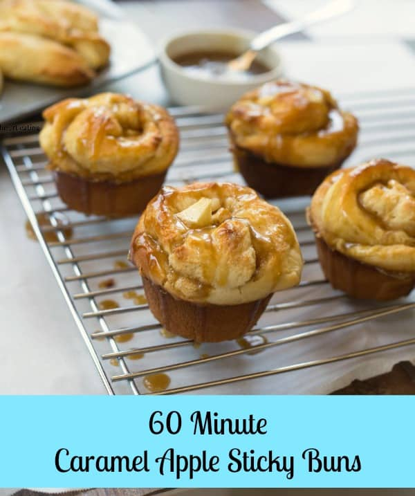 60 Minute Caramel Apple Sticky Buns - i heart eating