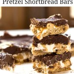 Salted Caramel Pretzel Shorbread Bars Recipe