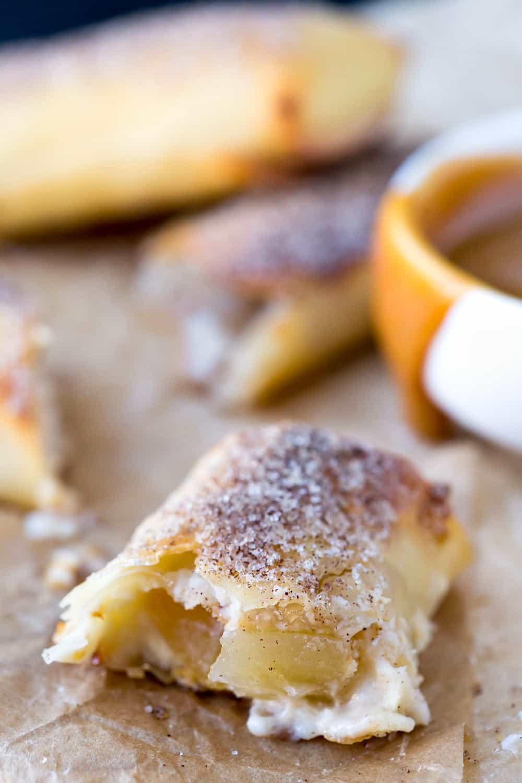 Apple Cheesecake Egg Rolls