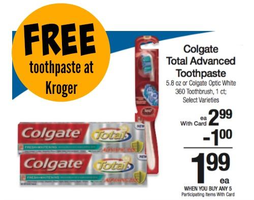 colgate free kroger