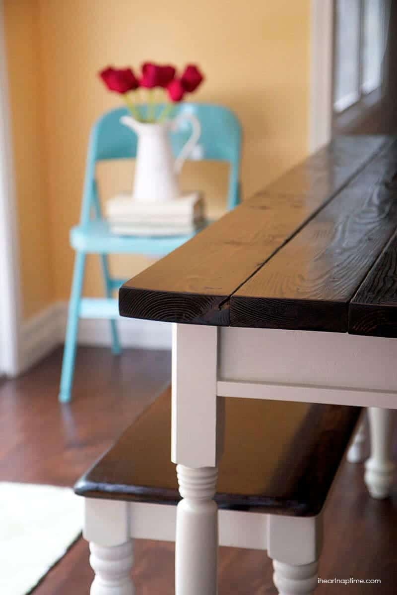 diy farmhouse kitchen table the kitchen table DIY farmhouse kitchen table on iheartnaptime com